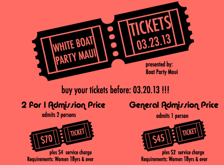 Boat Party Maui Tickets